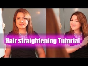 Beauty Enthusiast: Hair straightening – YouTube