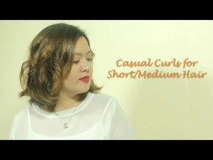 Casual Curls for Short/Medium Hair – YouTube