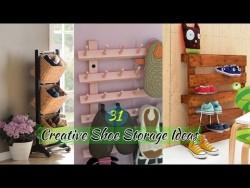 Best 31 Creative Shoe Storage Ideas – YouTube