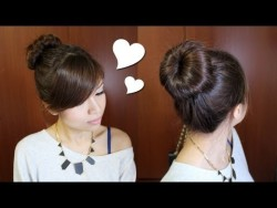 Everyday Perfect Bun Updo Hairstyle for Medium Long Hair Tutorial – YouTube