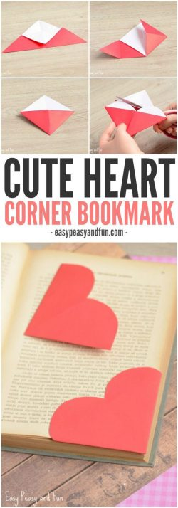 How to make Valentine bookmarks
