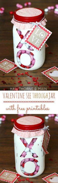 Valentines in a jar
