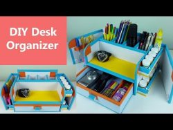 A stylish and compact DIY desk organizer/ drawer organizer out of cardboard. – YouTube