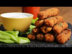 Buffalo Chicken Mozzarella Sticks – YouTube
