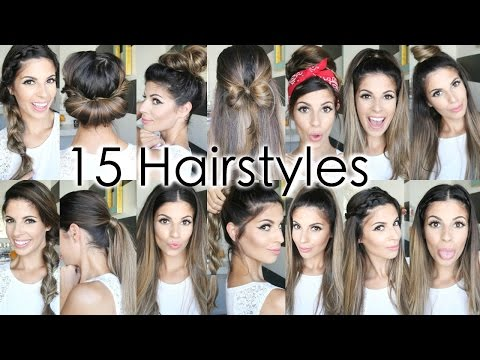 15 Back To School Heatless Hairstyles – YouTube