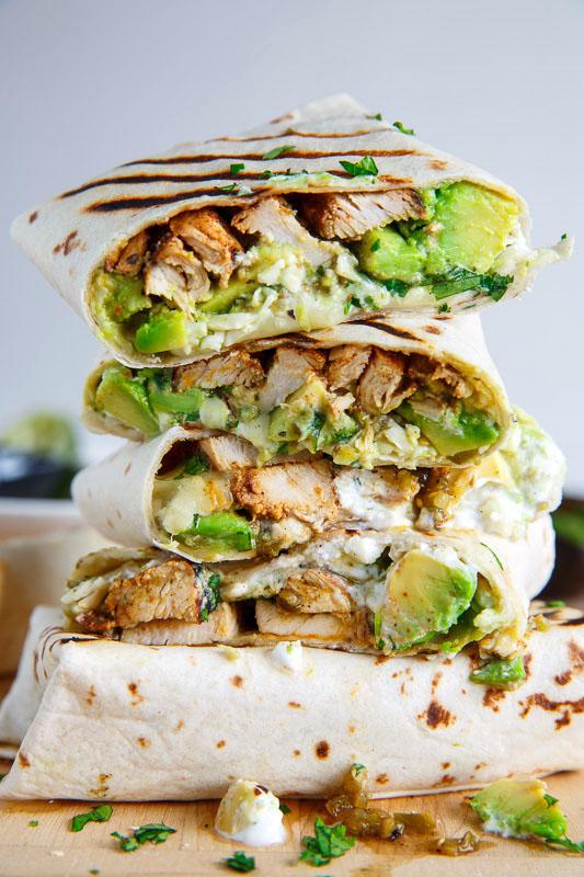 Chicken and Avocado Burritos on Closet Cooking