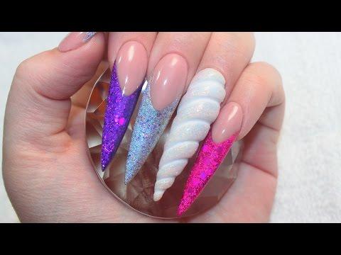 Unicorn land acrylic nails