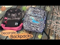 Decorate Backpacks