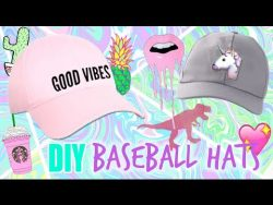 DIY Baseball hats