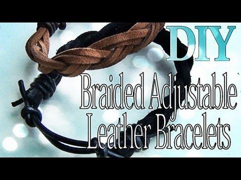 Adjustable Braided Leather Bracelets – YouTube