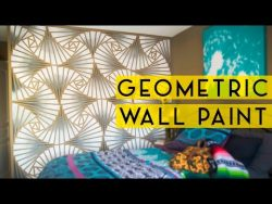 DIY Geometric Wall Paint – YouTube