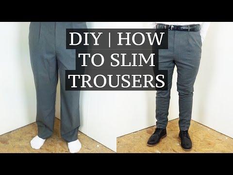 DIY | How To Slim & Shorten Suit Trousers | Josh Barnett – YouTube