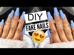 5 Min FAKE Nails at HOME!  – YouTube