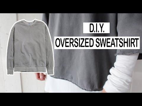 DIY oversized sweater