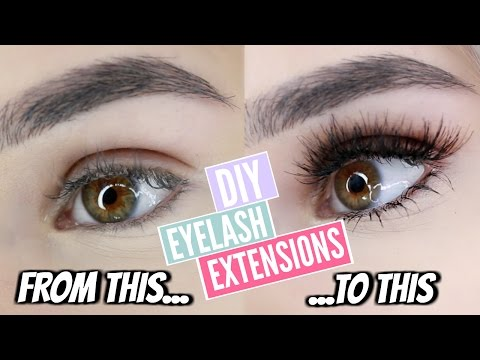 DIY: Permanent eyelash extensions at home