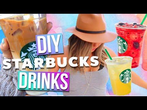 DIY Starbucks Drinks For Summer! 3 Drink Ideas! – YouTube