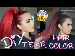 DIY temporary hair color ideas