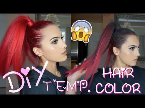 DIY temporary hair color ideas