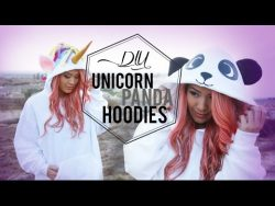 DIY Unicorn & Panda Costume  – YouTube