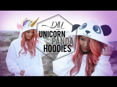 DIY Unicorn & Panda Costume  – YouTube