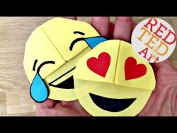Easy Emoji DIY Bookmark Corners (Paper Crafts) – YouTube