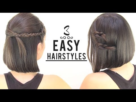 Easy hairstyles for short hair – YouTube