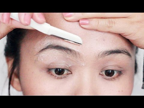 How I Shave My Eyebrows