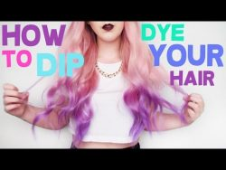 How To Dip Dye Your Hair