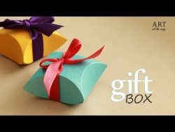 How to make : Gift Box – Easy DIY arts and crafts – YouTube