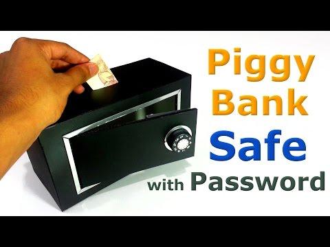 How to make Piggy Bank Safe – YouTube