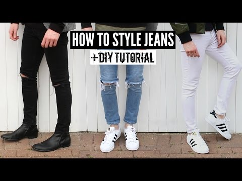 How To Style Jeans / Distressed Denim