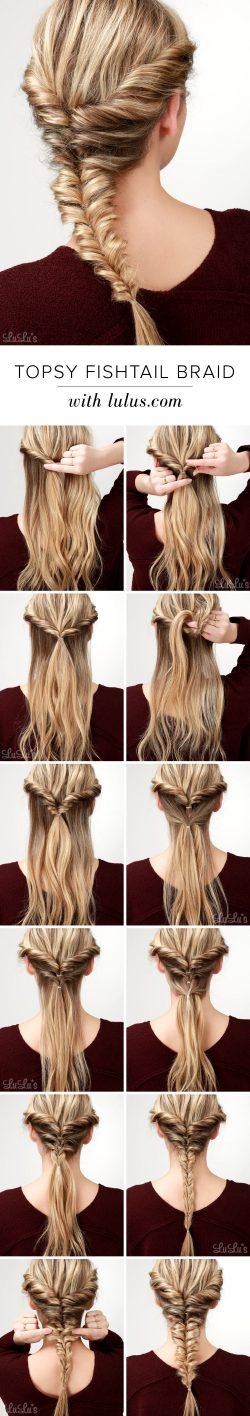 Topsy Fishtail Braid Tutorial