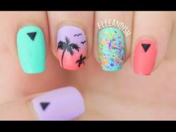 Matte Palm Tree Nails – YouTube