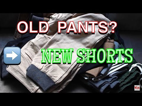 Turning old pants into new summer shorts