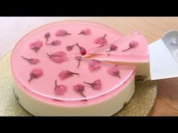 Sakura(Cherry Blossoms) Nobake Cheesecake – YouTube