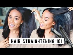 8 Tips for Straighter Hair | Flat Ironing Tips