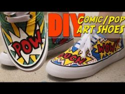 DIY Comic/Pop Art Shoes – YouTube